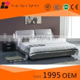 Good modern furniture design for american style bedroom, latest double metal bed set sale