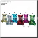 china supplier animal chrome plating ceramic bear money bank