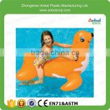 2015 Anbel Promotion Kids Animal Pool Water Toy Giant Inflatable Seal Ride On Orange For Ages 4 years up
