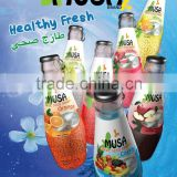 Basil Seed Drink Glass bottle 290ml MUSA Brand