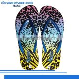 Clear Eva transfer print flip flop slippers for girls