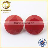 Synthetic crystal stones, round shaped synthetic semi-precious stone red, diamond cut glass gems                                                                                                         Supplier's Choice
