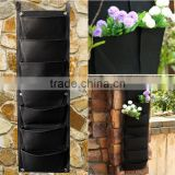 Garden Vertical Planter Multi Pocket Wall Mount Living Growing Bag Felt Indoor/Outdoor Pot