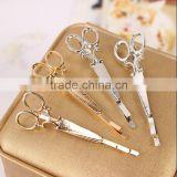 Creative Hair Pin Gold Silver Scissors Shears Clip for Hair Accessories Vintage Simple Head Jewelry best Valentine's Day Gift