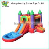 combo inflatable castle inflatable water slide with pool , inflatable combo bouncy and slide