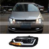 Auto Head Lamp With Turning Light LED Headlights For Volkswagen VW Sagitar Jetta 2014 2015