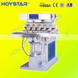 6 color shuttle pad printing machine for egg box