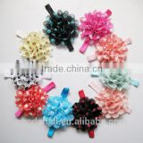 Decorative Chiffon Flower Hair Band Newborn Headbands(OHAR-S115-M35)