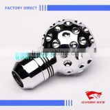 Factory Direct Sale 5 Speed Manual Universal Gear Shifter Shift Stick Knob Aluminum Racing Replace W/3 Adapter