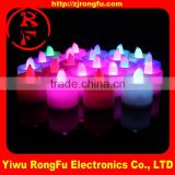 Wholesale pink led flameless candle,led paraffin wax candle light,wax flickering led pillar candles