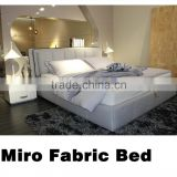 hot-sell modern king size/queen size fabric bed with storage