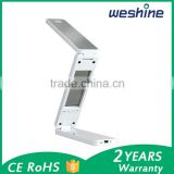 Foldable and rechargeable with clock temperature 1.8W LED table lamp reading lamp desk lamp wholesale