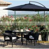 2013 garden bistro set -aluminum frame powder coated wicker rattan stackable cafe table Chairs