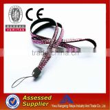 Hottest selling and newest design fashion rhinestone/glitter lanyard with id badge holder