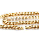 New Hot 18K gold filled women's men's gold chain, fashion stainless steel jewelry neck chain
