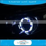 New products bi-xenon hid projector lens light angel eyes, 3D LED angel eyes, 3D halo ring light LED headlight