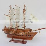 NAPOLEON WOODEN SHIP MODEL HANDICRAFT PRODUCT MINIATURE WOOD CRAFTS