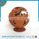 indoor ornament rellurian iron ball, globe, sphere, tellurion carved landscaping for sale