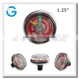 1.25 Inch Pressure Gauges For Fire Extinguishers with ul and back mounting                                                                         Quality Choice