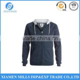 MAN'S Cotton polyester blend fabric Block Zip - Up Sweatshirt WITH Jersey hood lining