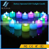 7 Color Battery Operated LED Tealight Candle LED Nightlight for Christmas Decoration