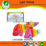 Plastic moving fish toys for baby