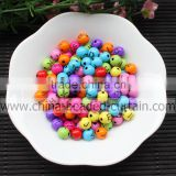 Bulk China Acrylic Round Letter Alphabet Spacer Beads Loose Smile Face Ball Beads For Jewelry