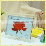 Engraved Glass Mirror Photo Frame 5x7 For Wedding Decoration