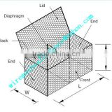 Galvanized welded gabion baskets, hesco bastion steel, hesco military bastion gabion cage