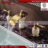 five star hotel used double handle water faucet,Taps and mixers,led glass waterfall basin tap