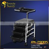 BN-T9005 Bonnie Beauty manicure trolley stainless steel trolley for hairdresser hairdressing trolley