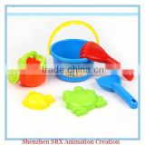 customized sand pit tools spade rake molds buckets kids beach play sets summer toys, plastic beach toys summer toys production