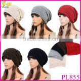 2014 New Women's Cotton Hip Hop Ring Warm Beanie Cap Autumn Winter Men Women Knitted Hats Beanies