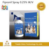 Fipronil spray 0.25% insecticide for dogs and cats