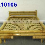 Painting Natural Bamboo Bed