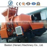 Electric and diesel type concrete pump with drum,20m3 to 90m3 concrete mixer with pump for sale