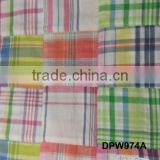 Madras Check Patchwork handmade pure fabrics For Bermuda