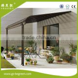 windproof large shade Deck Awning gazebo cover Patio canopy with polycarbonate roof cover