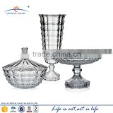 Wholesale machine-made high end clear lead bohemia crystal flower vase factory