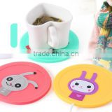 Supply fashion Small drunk doll Silicone USB electric heating keep warm dish / insulation mat