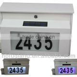 wall mount solar lighted mailbox with name plates