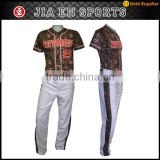 factory price customize youth camo sublimated pinstripe baseball jersey 5xl wholesale