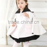 High fashion boutique clothing baby cape latest hooded satin cape for girls
