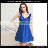 Women Hot Solid Robes Camisole Nightgown Sleepwear Mini Dresses Ladies Silk Night Sexy Dress