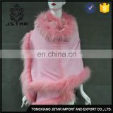Stable Quality Whole Raccoon Fur Collar /Noble/Fur Accessory Fashion Poncho Cashmere Square Shawl Cape