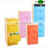 4 Layers TV Cabinets Latest Designs /Plastic Stackable Storage Drawers