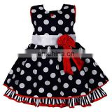 Polka Dots Cotton Party Wear Frock Girls Dress