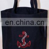 Ship Anchor & Rope Cotton Canvas Boat Tote Bag Custom Embroidery