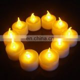 Yellow Flickering LED Tea Light Battery Candles Flameless Wedding Party