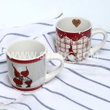 10 oz christmas ceramic coffee mugs